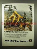 1975 John Deere JD640 Grapple Skidder Ad - Log