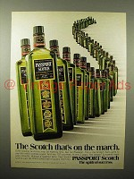 1975 Passport Scotch Ad - On the March