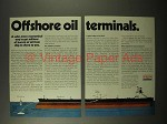 1975 Exxon Oil Ad - Offshore Oil Terminals