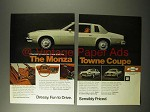1975 Chevrolet Monza Towne Coupe Car Ad