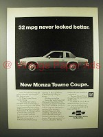 1975 Chevrolet Monza Towne Coupe Car Ad - Never Better