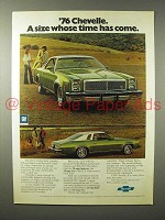 1976 Chevrolet Chevelle Car Ad - Time Has Come