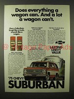 1975 Chevrolet Suburban Truck Ad - Does Everything