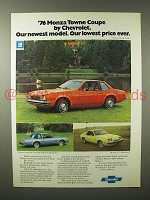 1976 Monza Towne Coupe, 2+2 Hatchback Car Ad