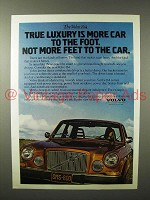 1975 Volvo 164 Car Ad - True Luxury is More