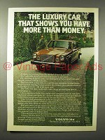 1975 Volvo 164 Car Ad - More Than Money