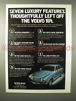 1975 Volvo 164 Car Ad - Seven Luxury Features Left Off