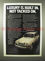 1975 Volvo 164 Car Ad - Luxury is Built In