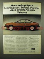 1975 Lancia Beta Car Ad - Comes to America Unknown