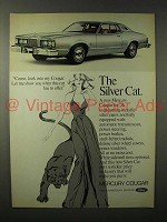 1976 Mercury Cougar Car Ad - The Silver Cat