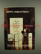 1975 Zippo Cigarette Lighter Ad - Windproof