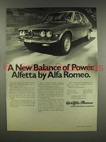 1976 Alfa Romeo Alfetta Car Ad - Balance of Power