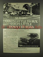 1977 Subaru Car Ad - Costs Little To Buy