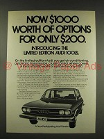1976 Audi 100LS Car Ad - $1000 Worth Of Options