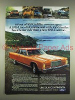 1976 Lincoln Continental Car Ad - Has a Better Ride