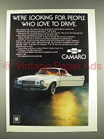 1977 Chevrolet Camaro Car Ad - Looking for People