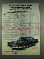 1976 Mercury Marquis Brougham Car Ad - 29 Reasons