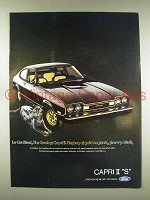 1976 Mercury Capri II S Car Ad - Le Cat Black