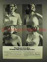 1976 Sears Ah-h Bra Ad - Looks Like You, Not a Bra