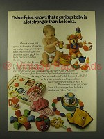 1976 Fisher-Price Crib & Playpen Toy Ad - Curious Baby