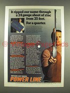 1976 Power Line 881 Gun Ad - Ripped Our Name