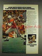 1976 Nutrament Energy Drink Ad - Archie Griffin
