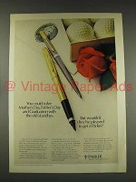 1976 Parker 75 Ball Pen, 75 Soft Tip Pen Ad