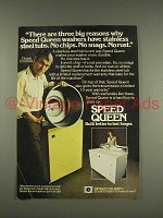 1976 Speed Queen Washer & Dryer Ad - Chuck Connors
