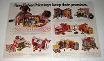 1976 Fisher-Price Play Family Toy Ad - School, Farm +