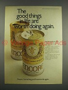 1971 Schlitz Encore Beer Ad - Worth Doing Again