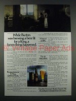 1980 Double Diamond Burton Export Ale Ad - Fit for King