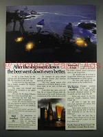 1980 Double Diamond Burton Export Ale Ad - Ship Down