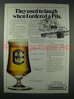 1980 Lowenbrau Beer Ad - Laugh When Ordered Pils