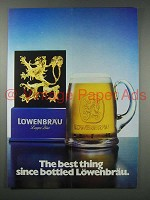 1980 Lowenbrau Beer Ad - Best Thing Since Bottled