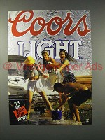 1992 Coors Light Beer Ad - It's The Right Beer Now
