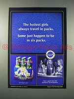 2004 St. Pauli Girl Beer Ad -t Girls Travel in Packs