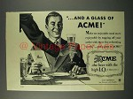 1946 Acme Beer Ad - And a Glass of Acme