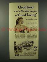 1938 Brown Derby Beer Ad - Part of Good Living