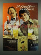 1976 Budweiser Beer Ad - King for 100 Years