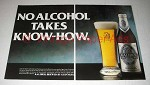 1986 Guinness Kaliber Beer Ad - Takes Know-How