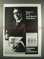1970 Heineken Beer Ad - There is Beer