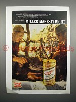 1970 Miller High Life Beer Ad - Miller Makes it Right