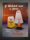 1970 Michelob Beer Ad - If Michelob Were a Ghost