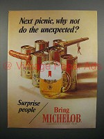 1970 Michelob Beer Ad - Next Picnic, Do the Unexpected