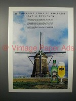 1976 Heineken Beer Ad - If You Can't Come to Holland