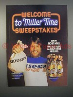 1983 Miller High Life Beer Ad - Miller Time Sweepstakes