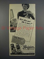 1945 Rainier Beer Ad - Isn't That Just Like a Man?