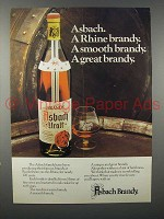 1978 Asbach Brandy Ad - Rhine, Smooth, Great