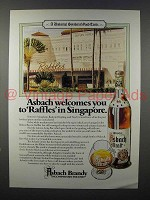 1980 Asbach Brandy Ad - Raffles in Singapore