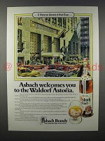 1980 Asbach Brandy Ad - The Waldorf Astoria
